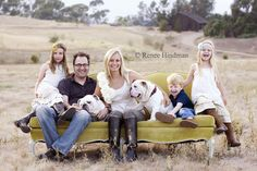 Family Portraits Red Couches And Families On Pinterest