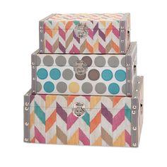 Imax Confetti Boxes - Set of 3