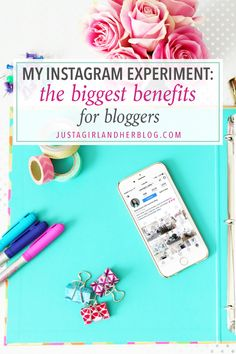 What are the biggest benefits of Instagram for bloggers? Don't miss the results of my Instagram experiment! Click through for more info!