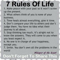 rules of life life quotes quotes quote life wise advice wisdom life lessons