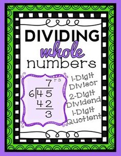 Division: 2-Digit by 1-Digit (with remainder) and a 1-Digit Quotient, computation and word problems. Complete No-Prep Lesson Packet!