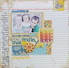 bello il journaling scritto tutto a sinistra... funge esso stesso da decorazione... (Megan Klauer per Sassafras)