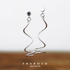 #Fraboso #silver #elegance #earrings 2015 collection