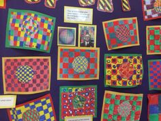 Op Art, we looked at Victor Vaserely aswell as colour theory and using complementary colours.