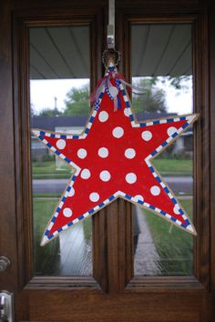 Fourth+of+July+Burlap+Star++Patriotic+Door+by+BordleyHouseDesigns,+$34.00
