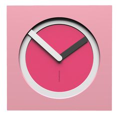 10-022-Q72C01B71O03M01 Wall clock KAM  - Do you like this color scheme? Pink, white, fuchsia, white and quartz grey. Have fun creating your own #wallclock