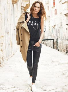 Erin Wasson romes the streets of Paris for Madewell's 2014 Lookbook