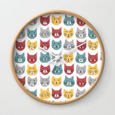 Kittens pattern Wall Clock