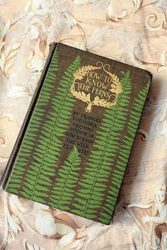 "Lovely old book: How to Know the Ferns.""  This could also go on my ""Field Notes"" board."