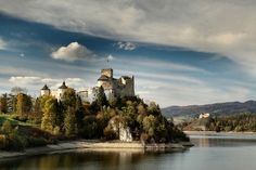The castle of Niedzica at lake Czorsztyn of the southeastern Poland... According to the local legends it is a haunted castle