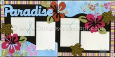 Paradise Scrapbook Page Kit - someday I will finish our honeymoon scrapbook :)