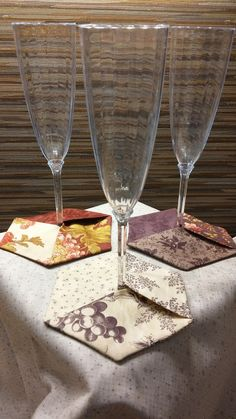 Honeycomb Wine Coasters Tutorial http://hamelsthread.com/honeycomb-wine-coasters-tutorial/  This entry was posted in Projects, Tutorials and tagged Coasters on October 24, 2014 by Gail Bean Admin.