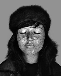 Portraits from the Ultraviolet Beauties series by Cara Phillips; subjects shot under UV light, revealing normally invisible sun damage