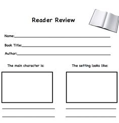 Get kids thinking, writing, and drawing their favorite book with this simple but engaging printable!