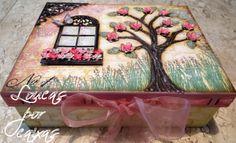 Caixa feita com carimbos loucas por caixas informações pelo email loucasporcaixas@terra.com.br