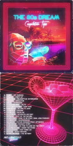 Is this the poster for Kali's DJ set? [the dream volume New Retro Wave, New Wave, Retro Waves, 80s Design, Graphic Design, 80s Neon, 16 Bars, Cyberpunk, Neon Aesthetic
