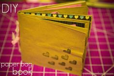 // DIY paper bag book (could also be used as a little book gift for Valentine's day!)