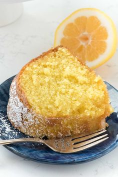 Easy Lemon Butter Cake starts with a cake mix and has the perfect lemon flavor. The warm cake is soaked with a lemon butter sauce and is moist and perfect!