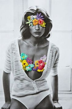 Embroidered fashion photography