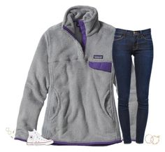 """""""goodnight"""" by secfashion13 ❤ liked on Polyvore featuring Patagonia, Frame, Converse, J.Crew, Nordstrom, Kendra Scott and Carolee"""