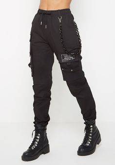 Chain Detail Cargo Pants - Black - Chain Detail Cargo Pants – Black … Source by - Skater Girl Outfits, Teen Fashion Outfits, Grunge Outfits, Emo Fashion, Edgy Mens Fashion, Gothic Fashion, Cyberpunk Fashion, Fashion Tips, Cute Casual Outfits