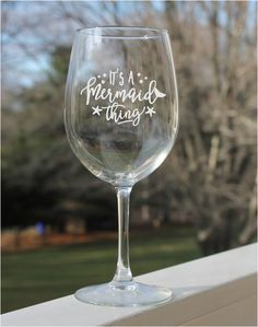 Etched wine glasses, dog wine glasses, Etched Wine Glasses, wine glasses, engraved by StoneEffectsMD on Etsy Mermaid Wine Glasses, Funny Wine Glasses, Etched Wine Glasses, Wedding Wine Glasses, Custom Wine Glasses, Personalized Wine Glasses, Happy Dance, Quotes Pink, Christmas Wine Glasses