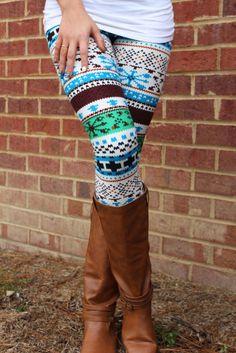 Winter's Coming Leggings: Multi