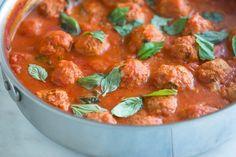 Slow cooker chicken meatballs and sauce
