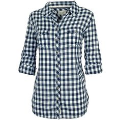 Fat Face Lily Check Boyfriend Shirt, Navy (33 AUD) ❤ liked on Polyvore featuring tops, shirts, checkered shirt, navy blue shirt, blue collared shirt, sleeve shirt and boyfriend shirt