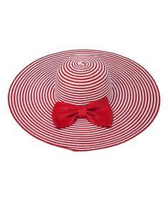 Red Stripe Sunhat