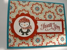 Snowmanlover's Paperie~Stampin' Up! Demonstrator: Stampin' Up! No Peeking Christmas Thank you card