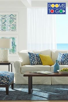 Cindy Crawford Light Blue Sofa Lamps Ikea Ektorp Sectional In Risane Natural- The Cover Is ...