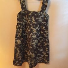 Camo sun dress This is a home made butterfly camo sun dress. Zipper back with two front pockets. I never wore it. In excellent condition. Dresses Midi