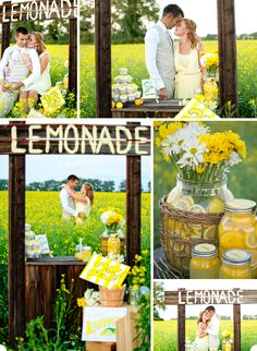Lemonade Stand engagement shoot