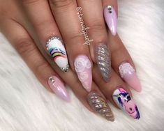 House Of Nail Inspiration (nailstyle_official) Instagram Nails, Instagram Posts, Painted Nail Art, Gel Designs, Sparkle Nails, Nails Inspiration, My Little Pony, Thursday, Nailart