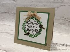The Craft Spa - Stampin' Up! UK independent demonstrator : Thoughtful Branches Wreath