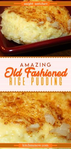 Old Fashioned Rice Pudding Marshmallow Caramel Popcorn // Pudding Desserts, Köstliche Desserts, Keto Pudding, Delicious Desserts, Chia Pudding, Dessert Recipes, Yummy Food, Custard Bread Pudding, Plated Desserts