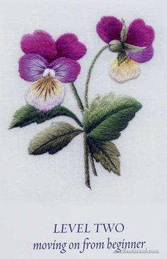 Aguja Pintura bordado por Trish Burr