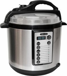 Bella - 6-Quart Pressure Cooker - Black/Silver $59.99 @ Best Buy