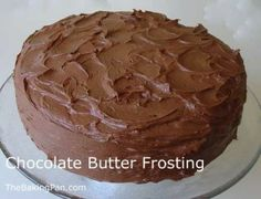Chocolate buttercream frosting for 9x13 cake