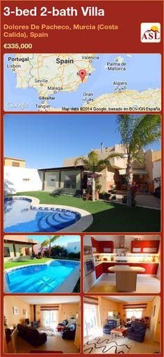 3-bed 2-bath Villa in Dolores De Pacheco, Murcia (Costa Calida), Spain ►€335,000 #PropertyForSaleInSpain