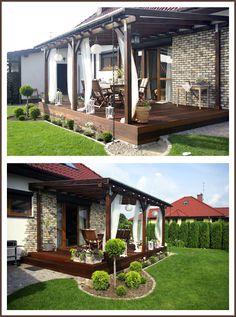Pergola In Front Yard Backyard Patio Designs, Backyard Pergola, Home Landscaping, Front Yard Landscaping, Landscaping Design, Outdoor Rooms, Outdoor Living, Outdoor Decor, Casas Country