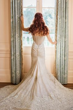 Stunning wedding dress back!   Charleston bridal portraits via @alowcountrywed, pics by Judy Nunez Photography