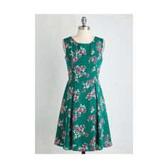 ModCloth Mid-length Sleeveless Fit & Flare I Rest My Grace Dress (1 270 UAH) ❤ liked on Polyvore featuring dresses, apparel, fashion dress, green, blue dress, green fit and flare dress, green pleated dress, pleated dress and blue fit and flare dress