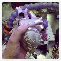 Work in progress - life-size silver heart. @NOL Jewellers