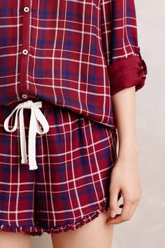 Checkerboard Sleep Top - anthropologie.com | Pinned by topista.com