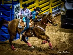 Barrel racers. for some reason I really love this picture of the horse and rider. love the way the horse is moving as the picture is being taken. you can see the intensity of the team at the nfr.