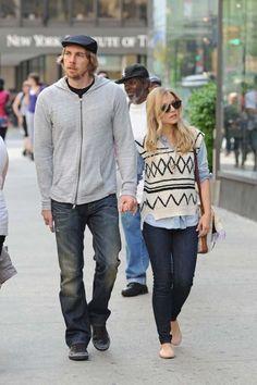 Dax Shepard and Kristen Bell spotted in Midtown Manhattan, NYC.