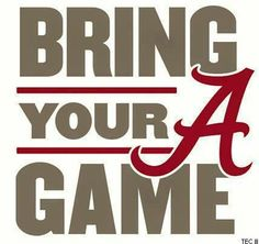 BAMA #kendrascott #teamKS First game of the season today!!!!  ROLL TIDE ROLL