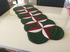 Patchwork Xmas table runner made by me